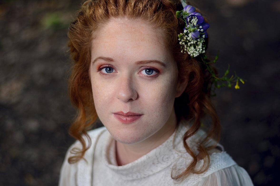Photographie de portrait d'Aurore par Laura Van Puymbroeck