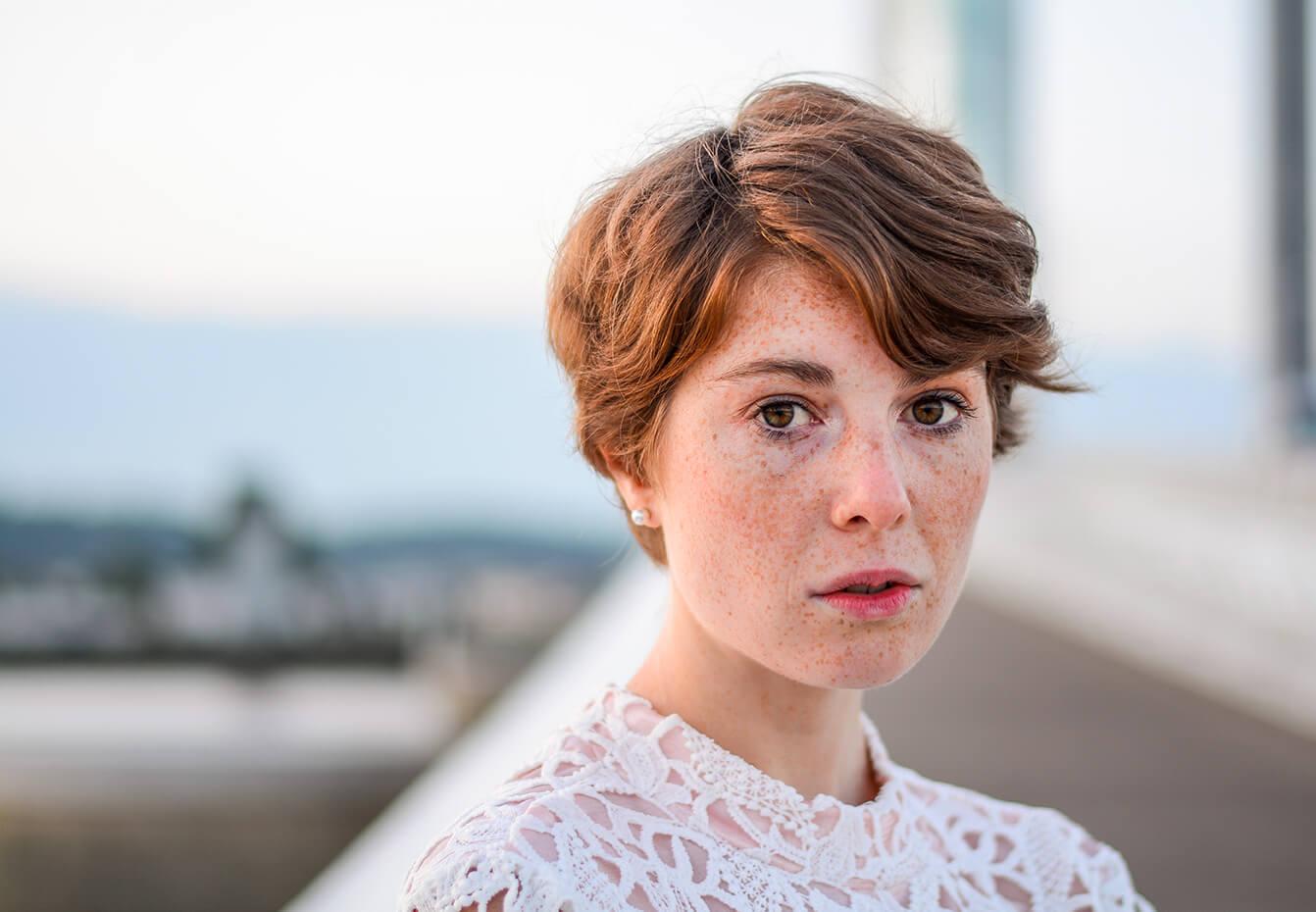 Photographie de portrait de Laurielle Haze par Laura Van Puymbroeck